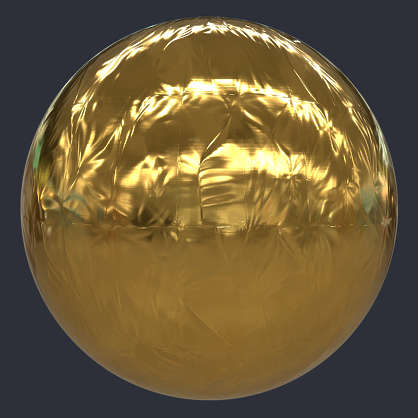 Substance material shader PBR gold space blanket foil wrinkles wrinkled silver plastic satellite scifi