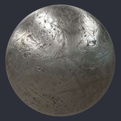 Deep Damage Metal Pbr Material S0096