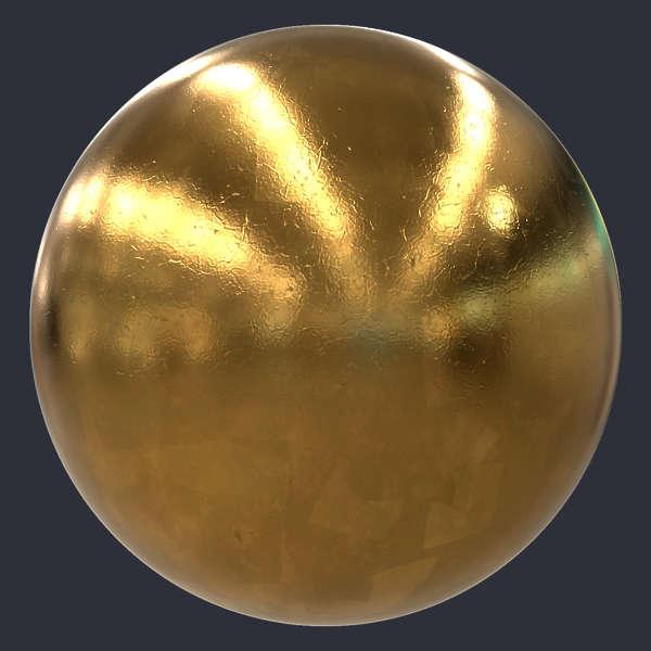 Gold Leaf Pbr Material S0097