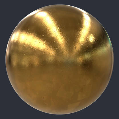 Substance material shader PBR gold leaf statue buddha shiny treasure artefact