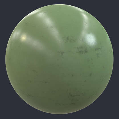 Substance material shader PBR plastic shiny scratched scratches worn cheap light