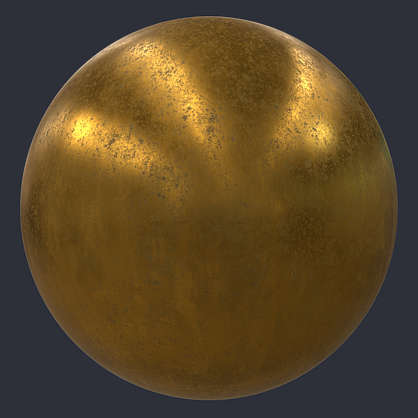 Substance material shader PBR copper brass aluminium steel iron corroded corrosion metal