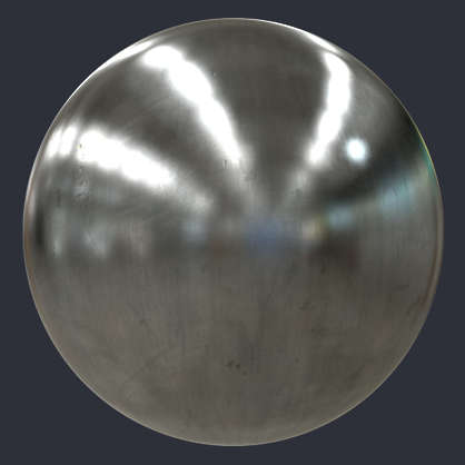 Substance material shader PBR base steel bare shiny metel brushed sanded worn