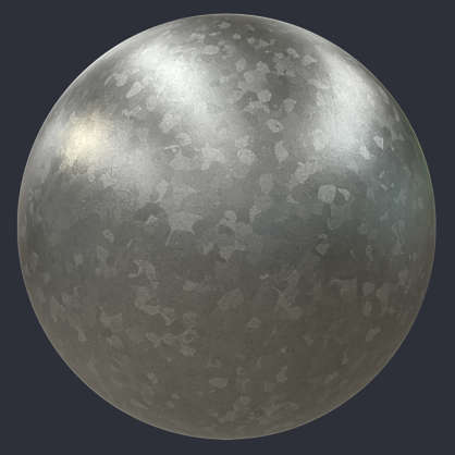 Substance material shader PBR galvanized metal shiny customizeable