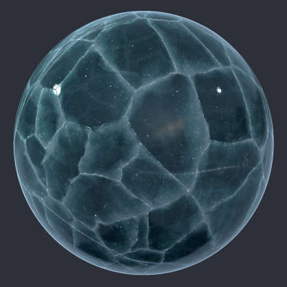 Substance material shader PBR frozen lake ice sheet