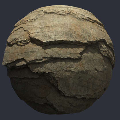 Substance material shader PBR granite cliff rock cliffs rocks