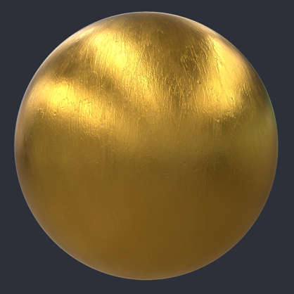Substance material shader PBR gold paint treasure ornament painted faux
