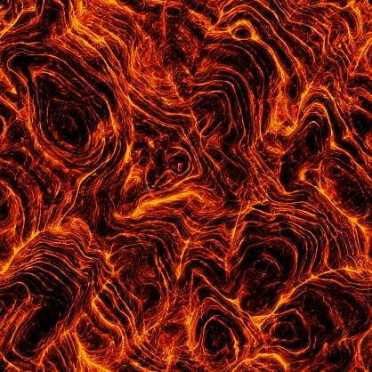 Substance material shader PBR lava magma flow hot molten