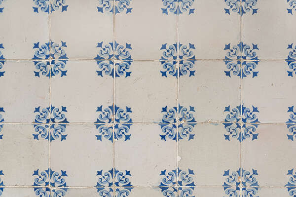 tiles ornate portuguese azulejo portugual vintage handpainted hand painted