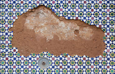 tiles morocco ornate damaged decal plaster zellige zillij zellij