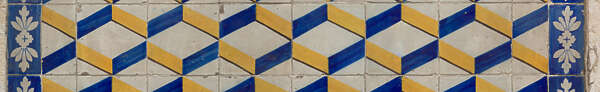 tile pattern wall geometric cubes simple Portugal patterned