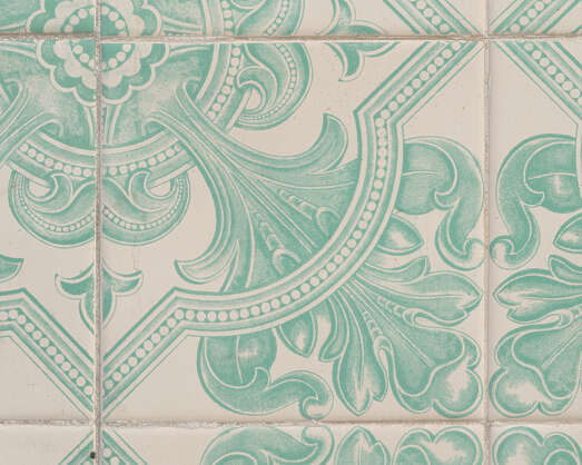 tile pattern wall azulejo printed Portugal patterned