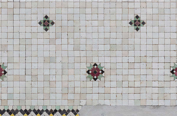 tiles morocco plain ornate small border trim