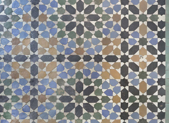 tiles floor morocco zellige ornate old