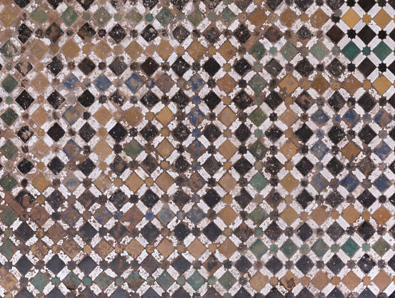 tiles floor morocco zellige ornate old worn