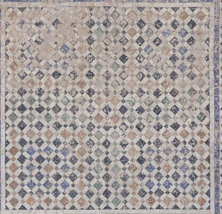 tiles floor morocco dirty dusty old worn ornate zellige