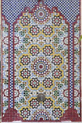 tiles zellige morocco ornate moorish fountain