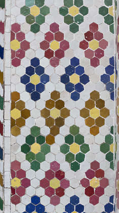 tiles zellige morocco ornate moorish hexagonal border