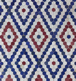 tiles zellige morocco ornate moorish hexagonal