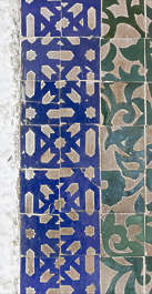 tiles zellige morocco ornate moorish border