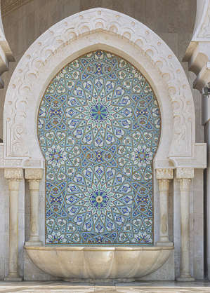 morocco ornament ornate tiles zellige moorish fountain