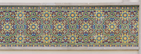 morocco ornament moorish tiles zellige border