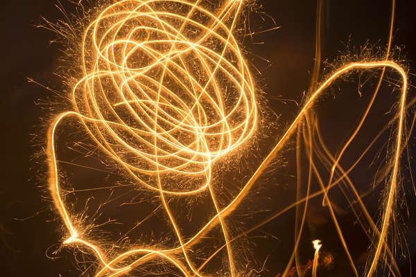 abstract fireworks fire lines sparkle