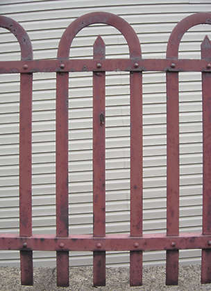 metal fence rust