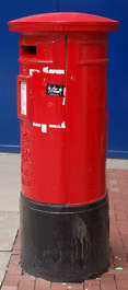 post mailbox paint red