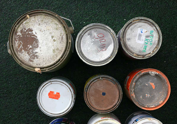 paint can container top bottom cans bucket