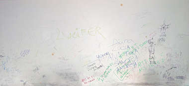 wall writing classroom scribbling