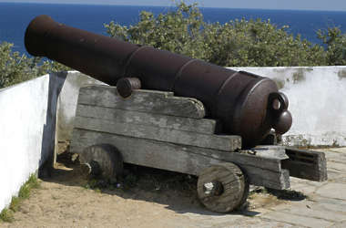 canon medieval gun wood metal old cannon