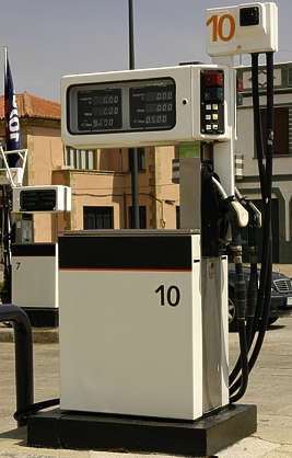gas pump station gasoline petrol petroluem