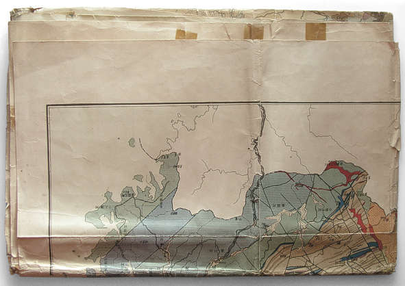 chart land map asia old paper