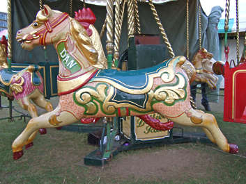horse merrygoround merry go round circus fair ornate theme park fun park