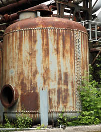 tank silo metal rusted old