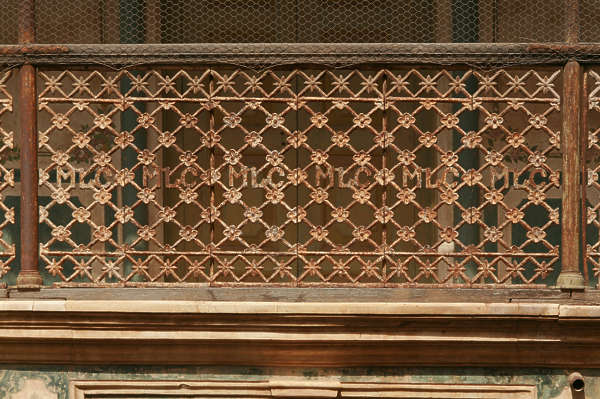 india ornament ornate balcony fence metal