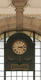 portugal clock trainstation ornate