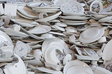 plates plate cup cups tableware porcelain broken heap