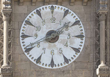 morocco clock old medieval ornate dials time