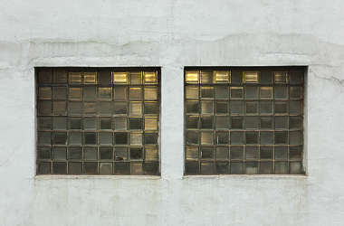 window industrial glass blocks