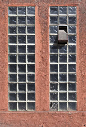 window industrial blocks glass
