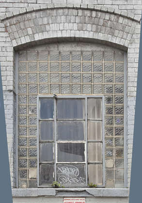 window block blocks arch industrial old new york ny united states usa