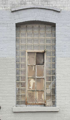 window arch old industrial blocks new york ny united states usa