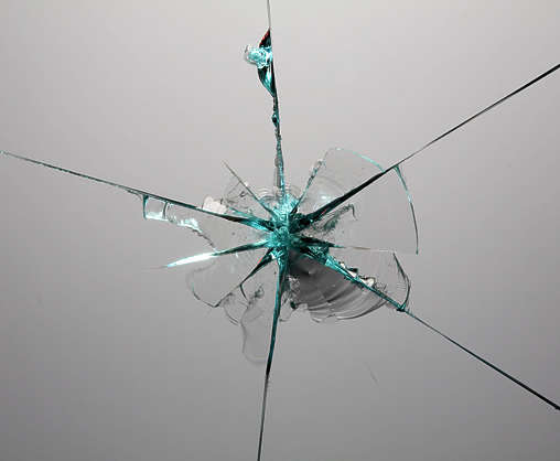 glass broken shattered hole