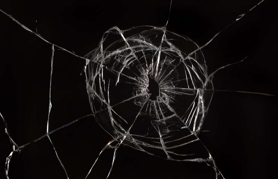 BrokenGlass0047 - Free Background Texture - glass broken shattered hole cracked bullet beige ...