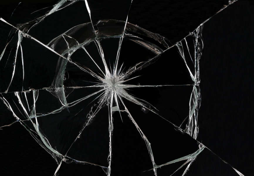 BrokenGlass0059 - Free Background Texture - glass broken shattered hole cracked beige black ...