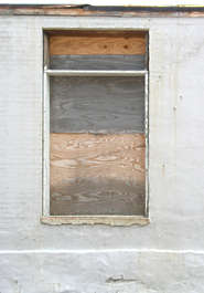 window wood barred blind