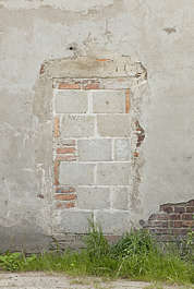 window closed bricked brickes derilict