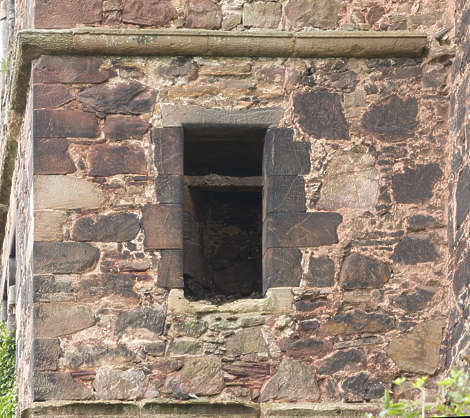 brick medieval window derelict old UK